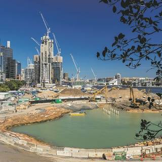 Construction Works At Barangaroo South  Picture Hamilton Lund