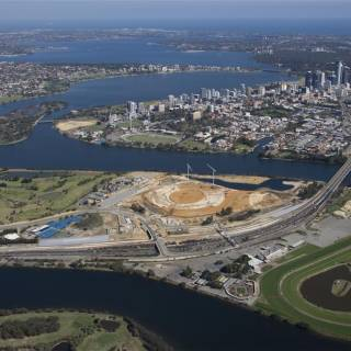 New Perth Stadium Aerial Photo May 2015