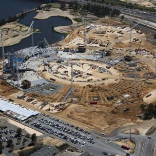 Perth Stadium Construction Site October 2015